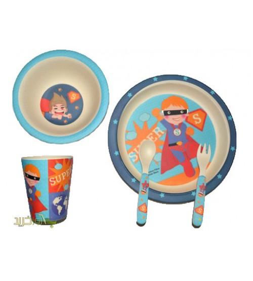 ظرف غذای کودک بامبو(ست 5 تکه)/ تمدید مجدد با طرح و قیمت جدید